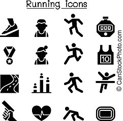 Running icon set vector illustration graphic design