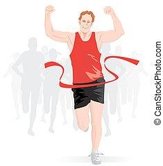 Running, illustration