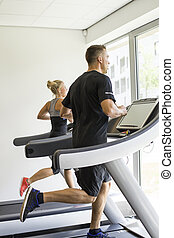 Running in a gym