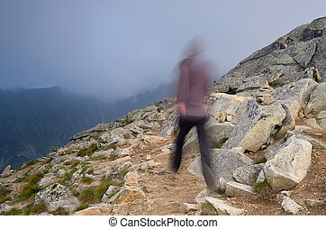 Running in the mountains