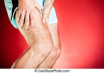 Running injury, leg and muscle pain