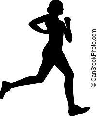 Running jogging woman silhouette