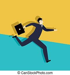 Running late business man