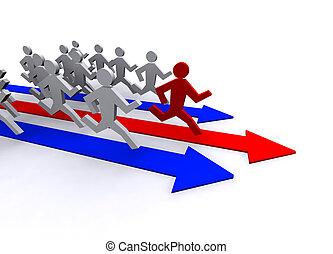 running leader concept