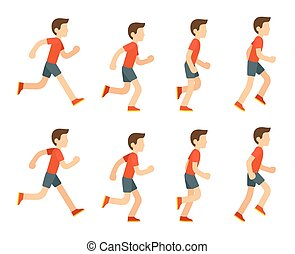 Running man animation. - Running man animation sprite set. 8...