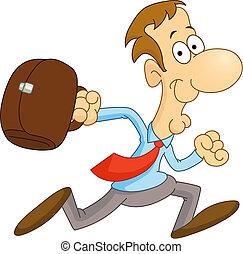 Running man - Cartoon businessman running