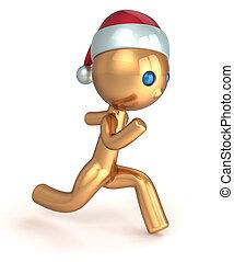 Running man Christmas character