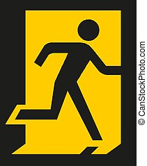 Running man exit sign Vector illustration EPS10