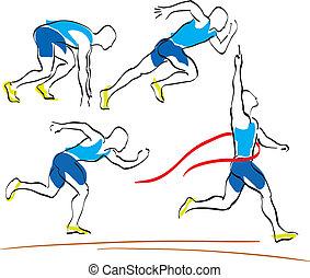 running man finishing line
