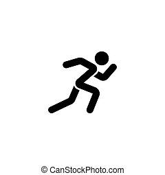 Running man vector icon. Simple flat symbol on white background