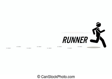 Running man - Runner runs and training in a outdoor running...
