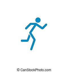 Running man solid icon, fast and fitness sport
