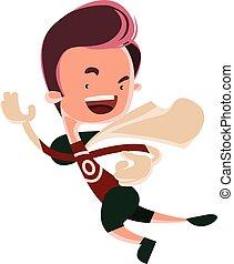 Running man superhero comic