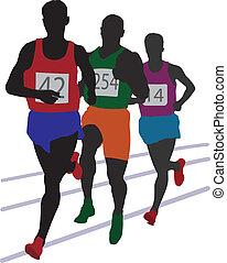 Running mans. Vector illustration for you design