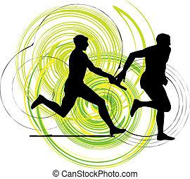 Running men, Vector illustration