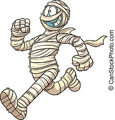 Running mummy - Cartoon running mummy. Vector clip art...