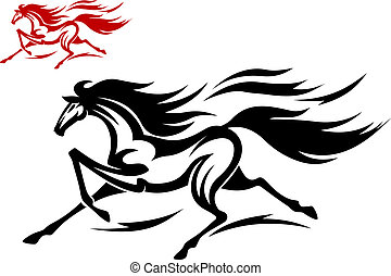 Running mustang - Fast running mustang for tattoo or...