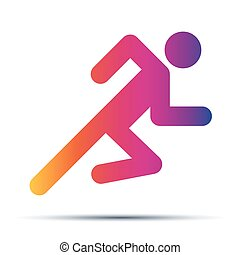 Running people simple symbol of run isolated on a white background.