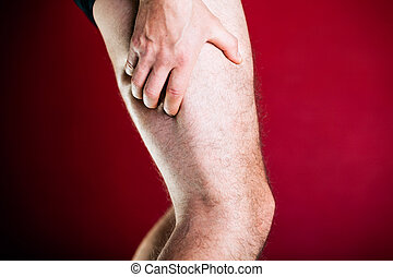 Running physical injury, leg pain. Runner sore body after ...