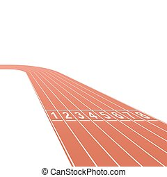 Running race track background
