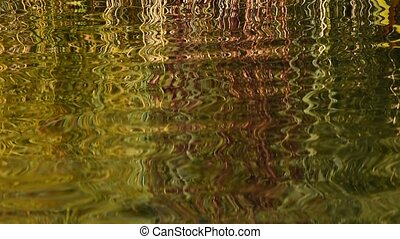 Running ripples zigzag effect on water surface - Colorful...