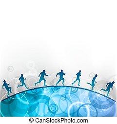 running - runnin on the blue hill