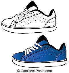 Running Shoe - An image of a tennis shoe set.
