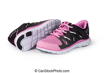 running shoe - New running shoe isolated on white background