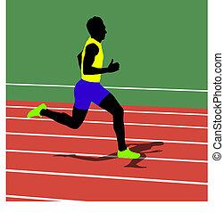 Running silhouettes. Vector illustration.