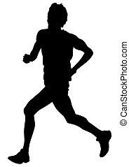 Running sport men eight