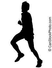 Running sport men five