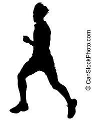 Running sport men four