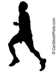 Running sport men six