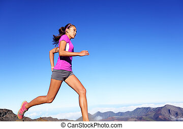 Running sports fitness runner woman jogging