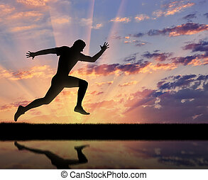 Running sports. Runner athlete