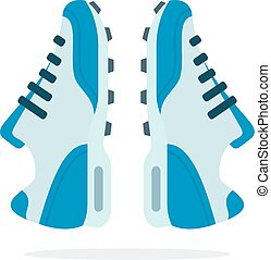 Running sports sneakers flat isolated