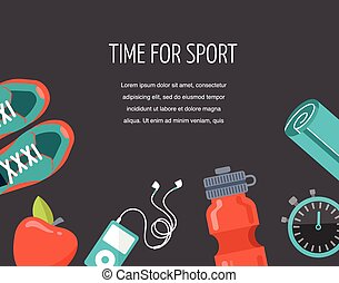 running, sprort and gym icons set