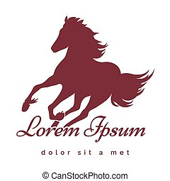 Stallion logo - Running Stallion logo or emblem. Only free...