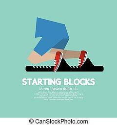 Running Starting Blocks.