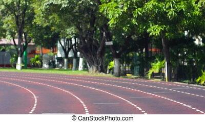 Running the stadium track