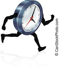 Running Time Concept Clock