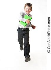 Running to school