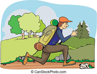 running tourist - summertime