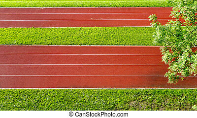 Running Track field and grass