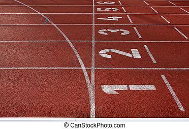 running track field