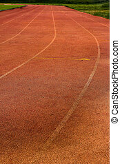 Running track for in the stadium.