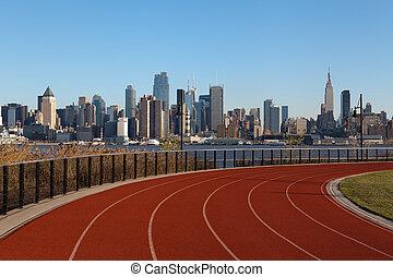 Running Track in New York.