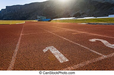 Running track outdoors - Photo of running track outdoors...