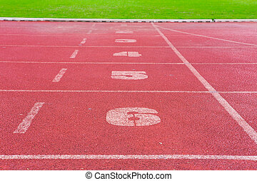 Running track rubber cover texture