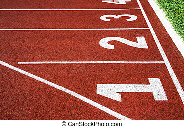 Running track with number 1-4, abstract, texture, background.